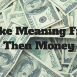 Make Meaning First, Then Money